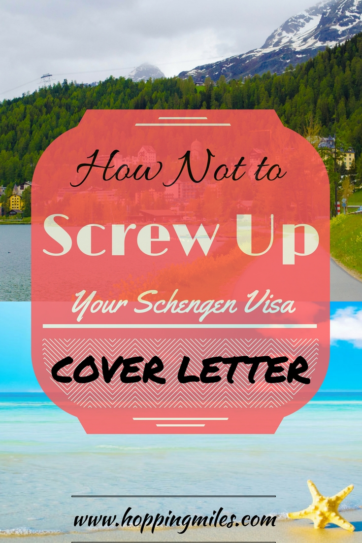 Schengen Visa Cover Letter Format with sample and common